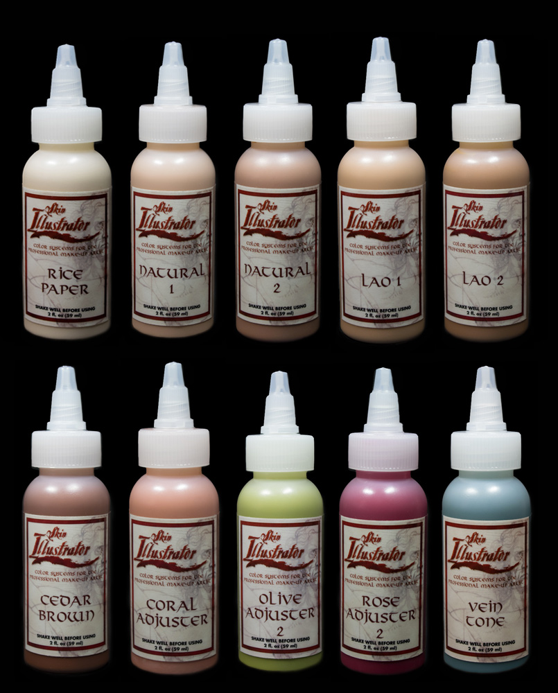 Flesh Tone Palette Liquids - Skin Illustrator