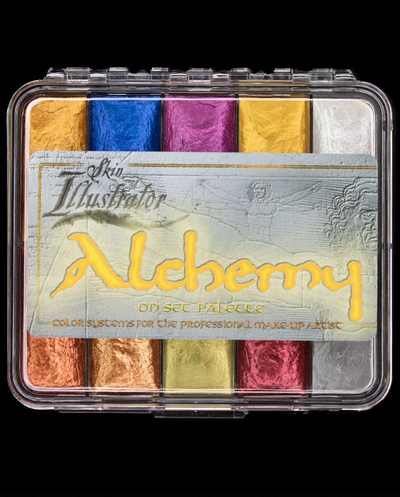 alchemy on set palette metallic chrome makeup alcohol activated skin illustrator fx body paint