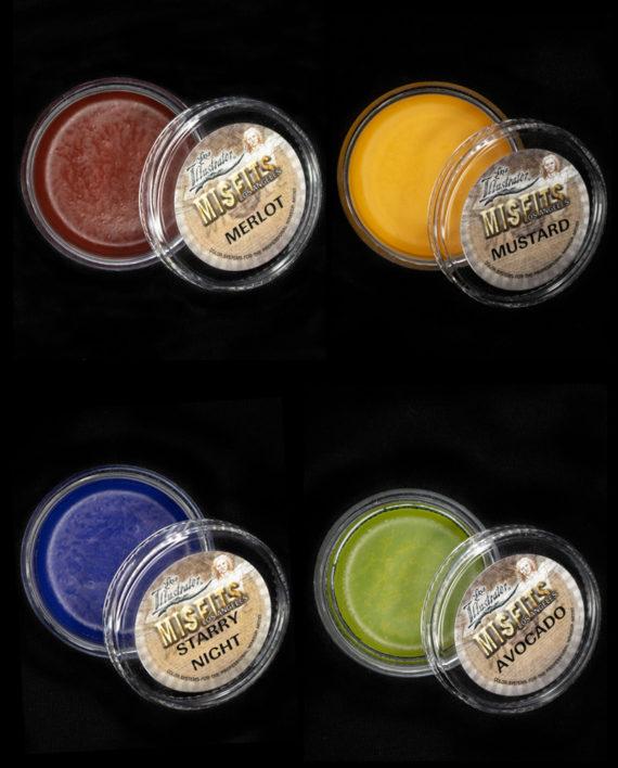 misfits los angeles skin illustrator mustard merlot starry night avocado custom color makeup